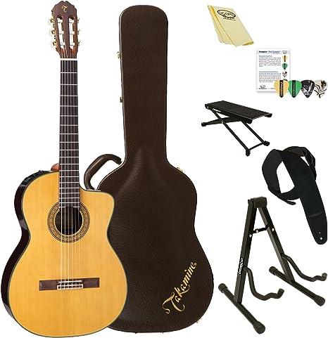 TAKAMINE tc132sc clásica acústica con cuerdas de nailon – Guitarra ...