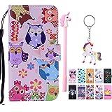 E-Mandala Funda iPhone 7/8/7 Plus/8 Plus Carcasa con Tapa Libro PU Leather Flip Leather Case Wallet Cover