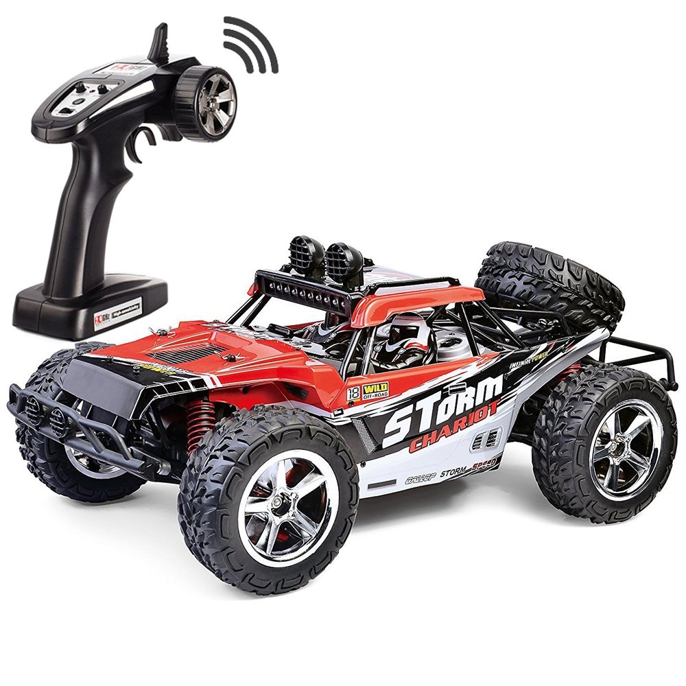 4.FSTgo 1/12 Radio Controlled Racing Cars, High-Speed RC Car 35MPH+ Desert Buggy 4x4 Fast Race Cars RTR Racing 4WD ELECTRIC POWER 2.4GHz Radio Remote Control Off Road Truck (Red)