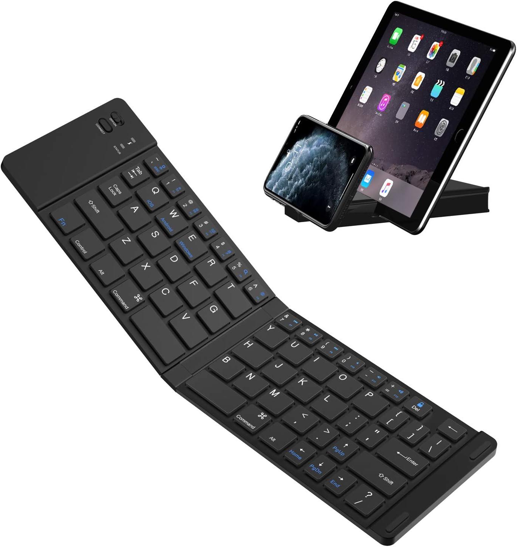 Teclado Bluetooth plegable, Teclado plegable ultra delgado IKOS BT para iPhone X 8 7 6S 6 Plus/ Pro / Air, Smartphones / Tabletas Android de Samsung y Dispositivo con sistema Windows