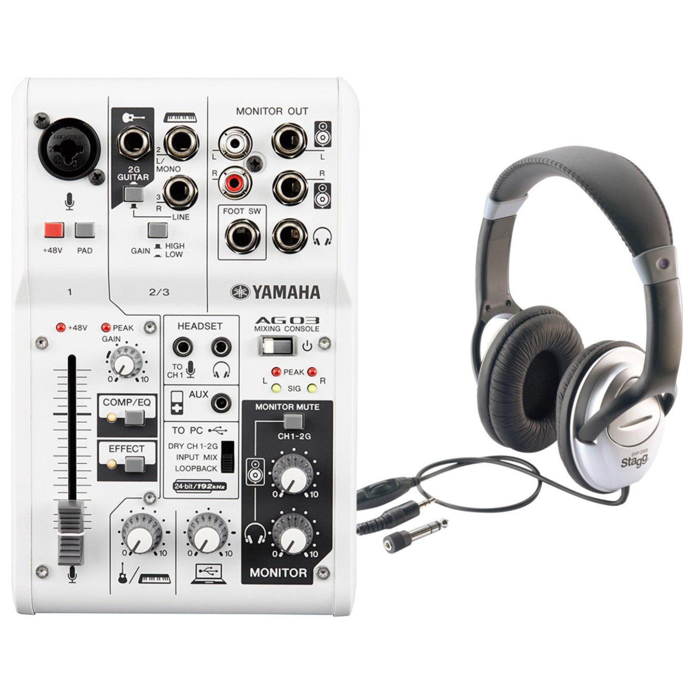 Yamaha AG03 3-Input USB Audio Interface Mixer w/ Headphones