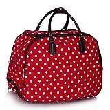 LeahWard® Ladies Butterfly Print Travel Bag Holdall Hand Luggage Womens Weekend Handbag Wheeled Trolley 309