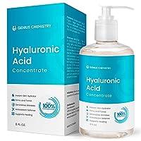 GENIUS Hyaluronic Acid Serum 8OZ, Pure Organic HA, Anti Aging, Anti Wrinkle, The...