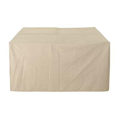 """Christopher Knight Home Calli Outdoor 77"""" Square Waterproof Dining Set Cover, Beige : Garden & Outdoor"""