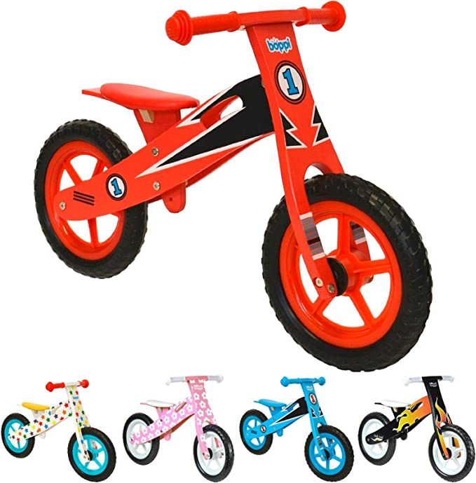 boppi® Bici sin Pedales de Madera para niños de 2-5 años - Rojo ...