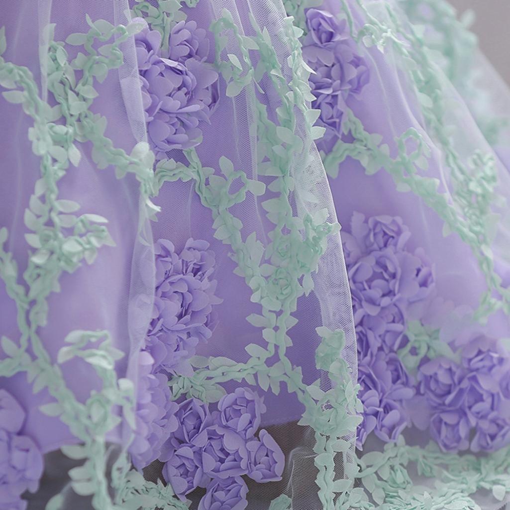 DAY8 V/êtements B/éb/é Fille Naissance /Ét/é Robe B/éb/é Fille C/ér/émonie Princesse Mariage Bapt/ême F/ête 0-18 Mois Chic Mode Costume de Jupe Tutu Robe Fille Fleur Dentelle Bowknot