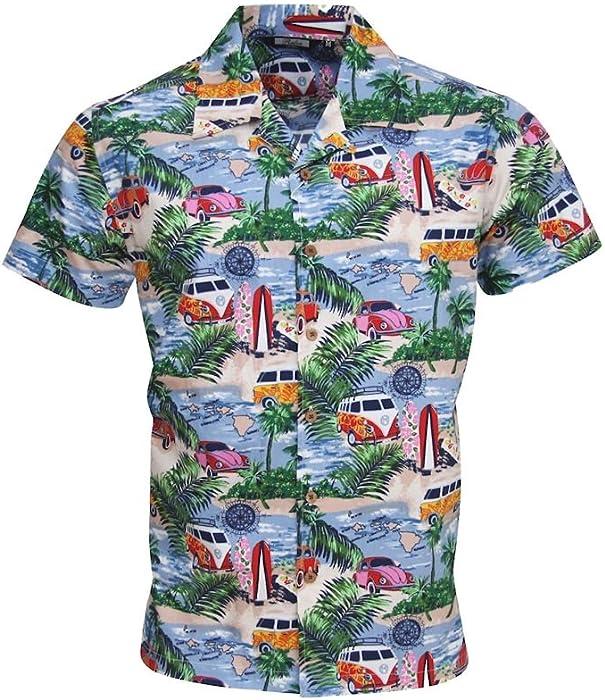 79243c8e Relco Mens Short Sleeve Retro Hawaiian Beach Shirt Multicoloured 3XL ...