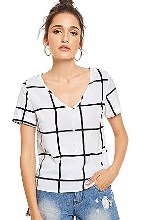 2f6686cf12991 MakeMeChic Women s Summer Half Sleeve Dip Hem Plain Pocket T-Shirt Blouse  Crop Top 1