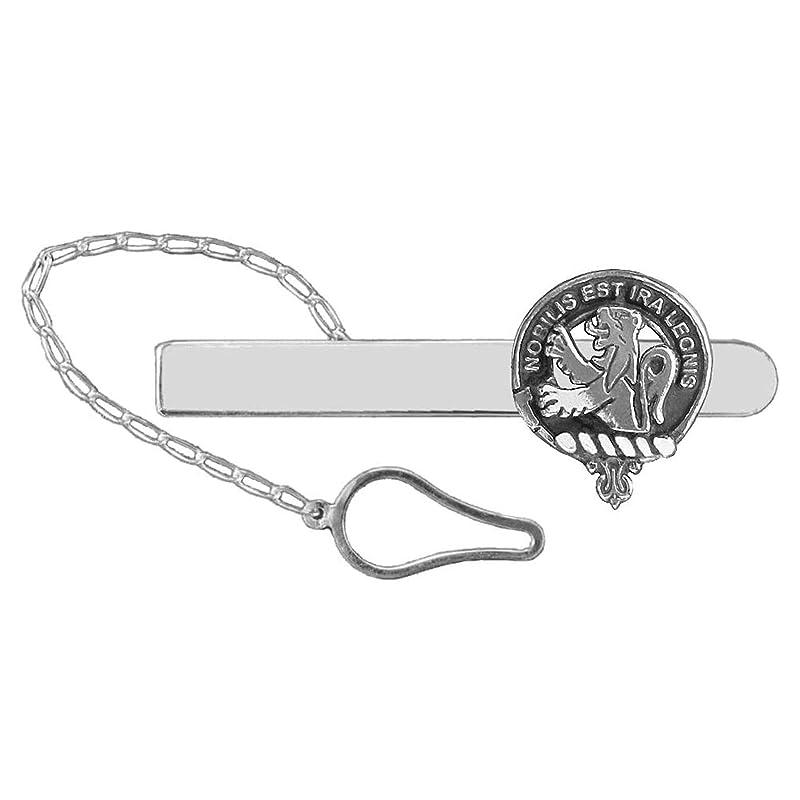 RoseButton Loop Tie Bar ~ Sterling Silver