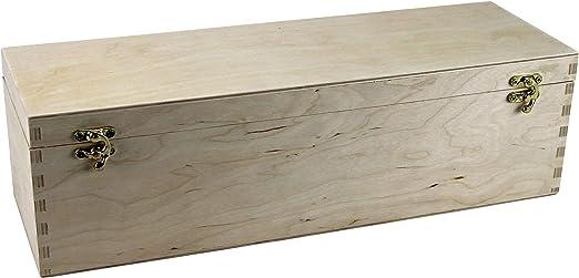 Vino Caja con tapa, apta para Magnum Botella 1,5 L – Caja – Vino – Caja de madera – Caja de Regalo – Champán – Champán: Amazon.es: Hogar