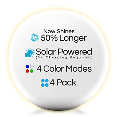 """4-PK Floating Pool Lights, 12"""" Globes, 4 Color Settings, Solar LED Balls, Inflatable, Waterproof, Floatable, Hangable, Night Mood Lights-Sphere Decorations-Pools-Backyard-Lawn-Pathways-Parties-Events : Garden & Outdoor"""