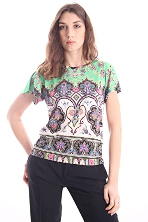 Etro Multicolor Paisley-Print T-Shirt, Damen, Taglia 40.