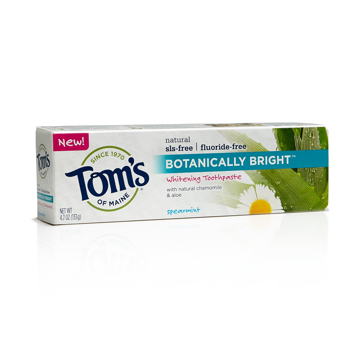 Tom's of Maine 683214 SLS-Free Botanically Bright Toothpaste, Spearmint, 4.7 Ounce, 24 Count