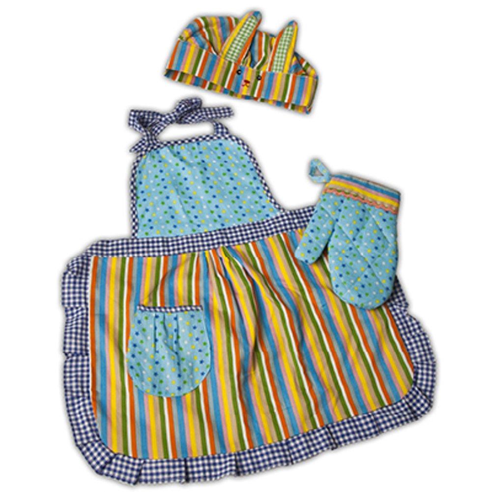 Amazon.com : Hey Duckee Kids Toy Chef Kitchen Apron Set - For Kids ...