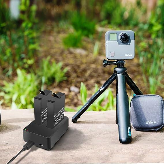 Amazon.com: enegon pilas (2 unidades) para GoPro Fusion y ...
