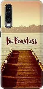 Stylizedd Huawei P30 Slim Snap Basic Case Cover Matte Finish - Be Fearless