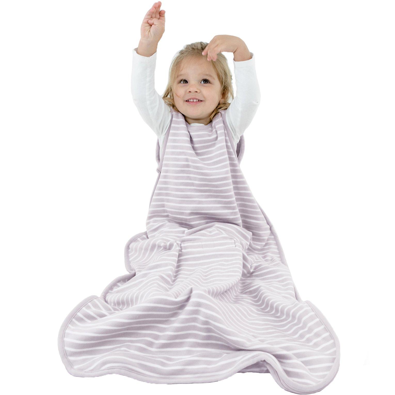 Woolino Toddler Sleeping Bag, 4 Season, Merino Wool Baby Wearable Blanket, 2-4 Years, Dream (Lilac Gray) by Woolino