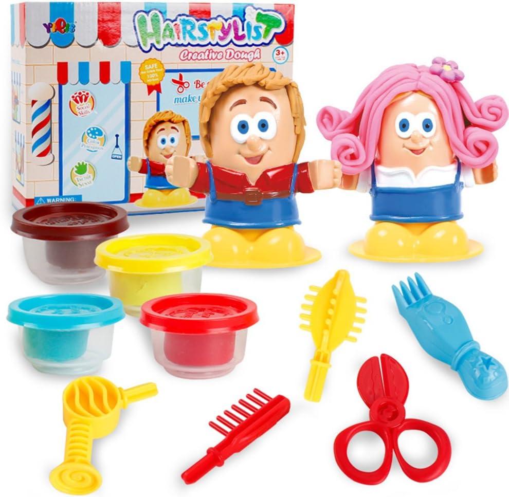 DSstyles Children DIY Playdough 3D Hairdresser//BBQ Clay Slim Set Toys Plasticine Tool Kit Molding