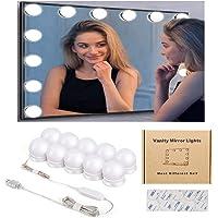 Kohree Led-spiegelverlichting, Hollywood-stijl, 10 dimbare gloeilampen met make-upspiegel, verlichting voor make-uptafel…