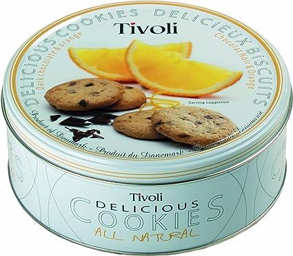Tivoli - Galletas de chocolate con naranja - en caja metálica - 600 g