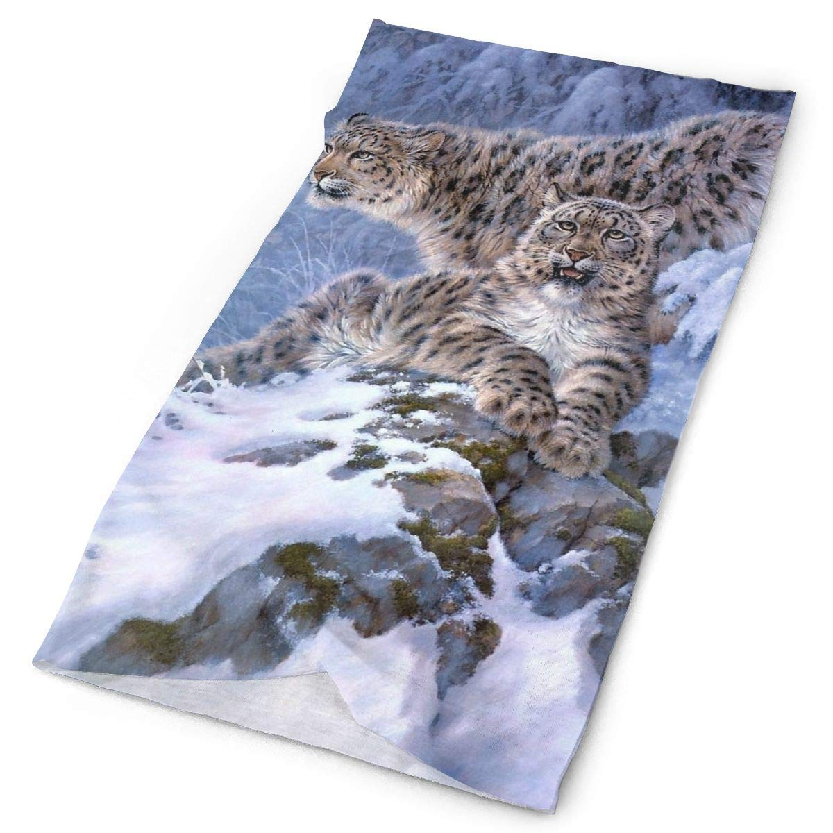 Beautiful Snow Leopard Unisex Fashion Quick-Drying Microfiber Headdress Outdoor Magic Scarf Neck Neck Scarf Hooded Scarf Super Soft Handle