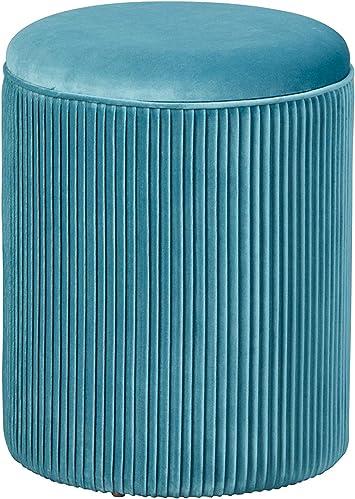 Inter Link Hocker Stauraumhocker mit abnehmbarer Sitzfl/äche samt blau