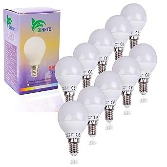 LED Birne Glühbirne Glühlampe Lampe  Sparlampe E14 warmweiß 5W wie 40W Bulb