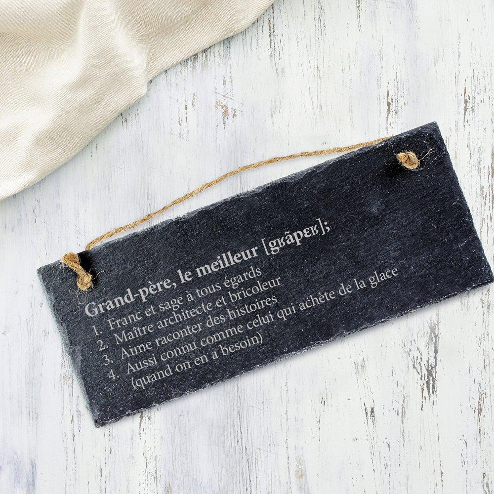 No/ël - Id/ée Cadeau pour Mamie Personnalis/ée - PR/ÉNOM D/éfintion de la Meilleure Grand-m/ère Plaque de Porte Anniversaire Femme F/ête des Grands-m/ères Casa Vivente Ardoise Naturelle