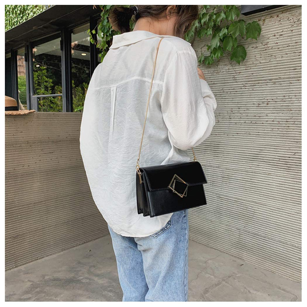 OUSHINA Chain Handbags New 2019 Summer Small Fresh and Simple Foreign Wild Ins Messenger Bag Color : E, Size : 19.519.513.58.5cm