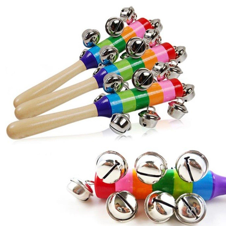 1PC Creative Hand Bells Jingle Bells Kid Education Instrument Best Toy Gift