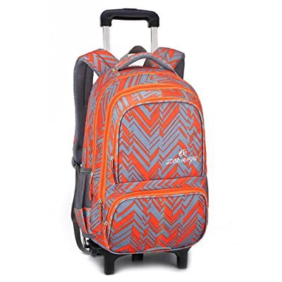 well-wreapped Studengts Polyester Nylon Trolley Bag Double Shoulder Backpack Hand Pull Box