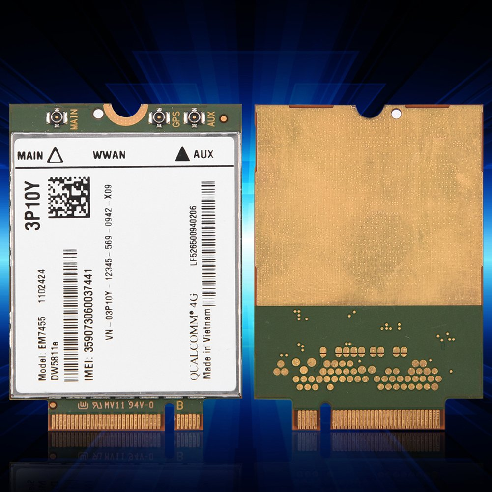 vbestlife Reemplazo inal/ámbrico em7455/para Dell dw5811e 3p10y Qualcomm 4/G LTE WWAN NGFF m/ódulo m/ódulo