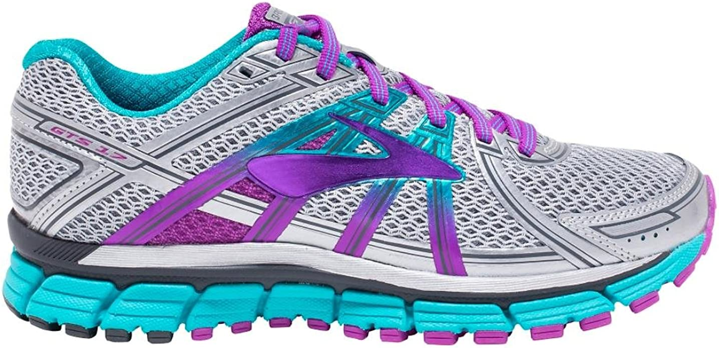 Brooks Adrenaline Gts 17, Zapatos para Correr para Mujer, Multicolor (Silver/purplecactusflower/blue), 35.5 EU: Amazon.es: Zapatos y complementos