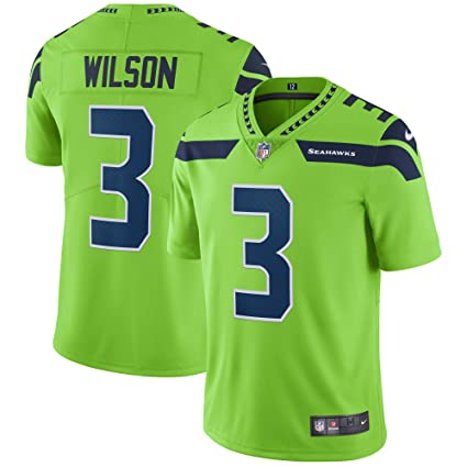 653cf212f6c Nike Russell Wilson Seattle Seahawks Color Rush Vapor Untouchable Limited  Jersey - Neon Green (Large