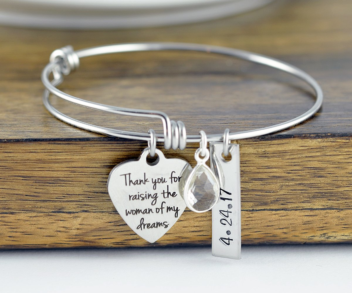 Thank you for raising the manwoman of my dreams Necklace  Set Mother of the Bride Gift Mother of the Groom Gift
