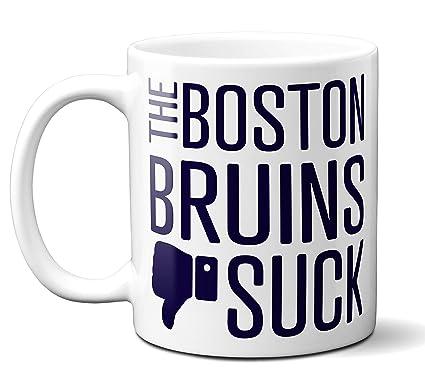 Amazon.com  Funny Boston Hockey Bruins Suck Mug. Perfect Novelty ... de9fa2c773df