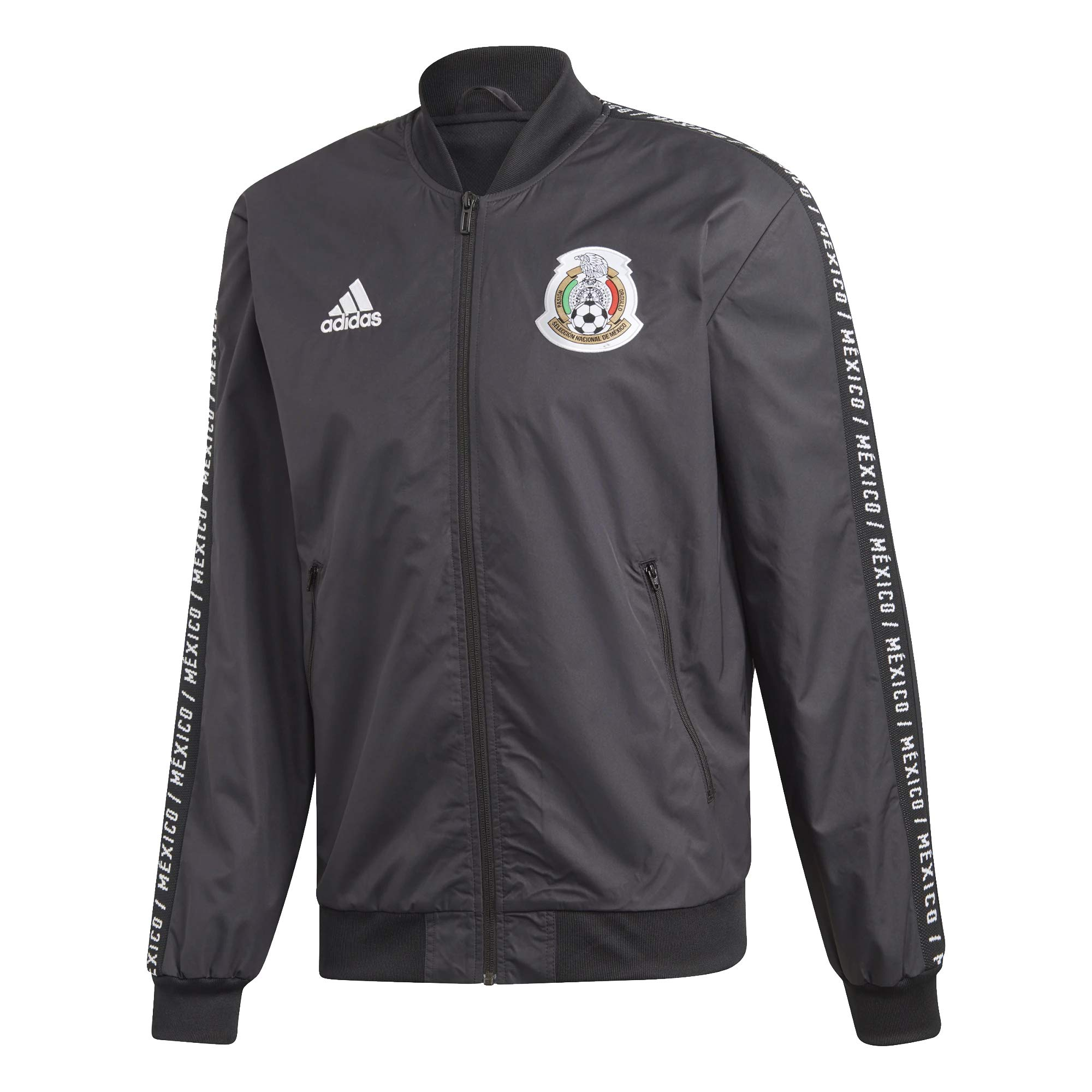 adidas Men's Soccer Mexico Anthem Jacket 2019 (2XL) Black/White
