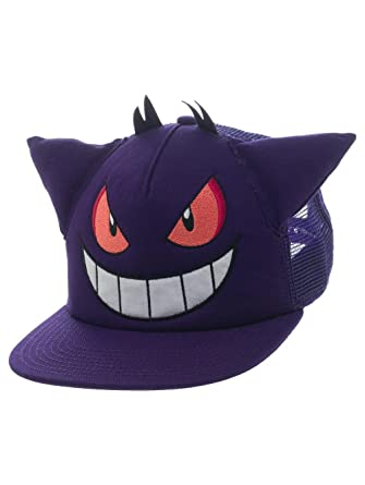Pokemon - Gengar Snapback with Ears - Purple - Adjustable  Amazon.co.uk   Clothing 6887869fa15