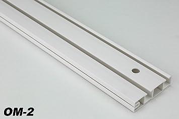Bekannt 10 Meter 2-läufige PVC Gardinenschiene Schiebevorhang TL87
