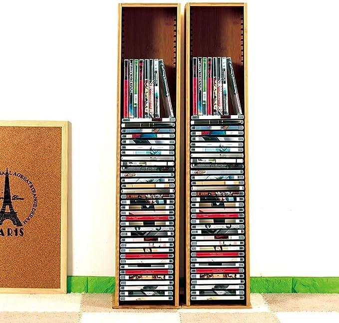 LILIS Cajonera para Documentos,archivador Estante de Almacenamiento de CD CD de Almacenamiento en Rack Acabado PS4 Disco del Juego de Bastidor de Madera Maciza de BLU-Ray Disc CD del Juego Plataforma: Amazon.es: