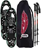 RedFeather Women's HIKE Recreational Series Snowshoe Kit with SV2 Bindings, Ski Poles and Carry Bag -1500