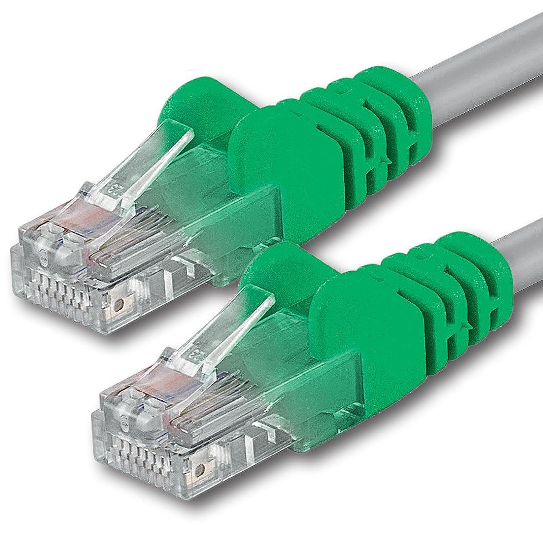 1aTTack CAT 5e Crossover UTP Netzwerk Patch-Kabel mit 2x RJ45 Stecker 2m