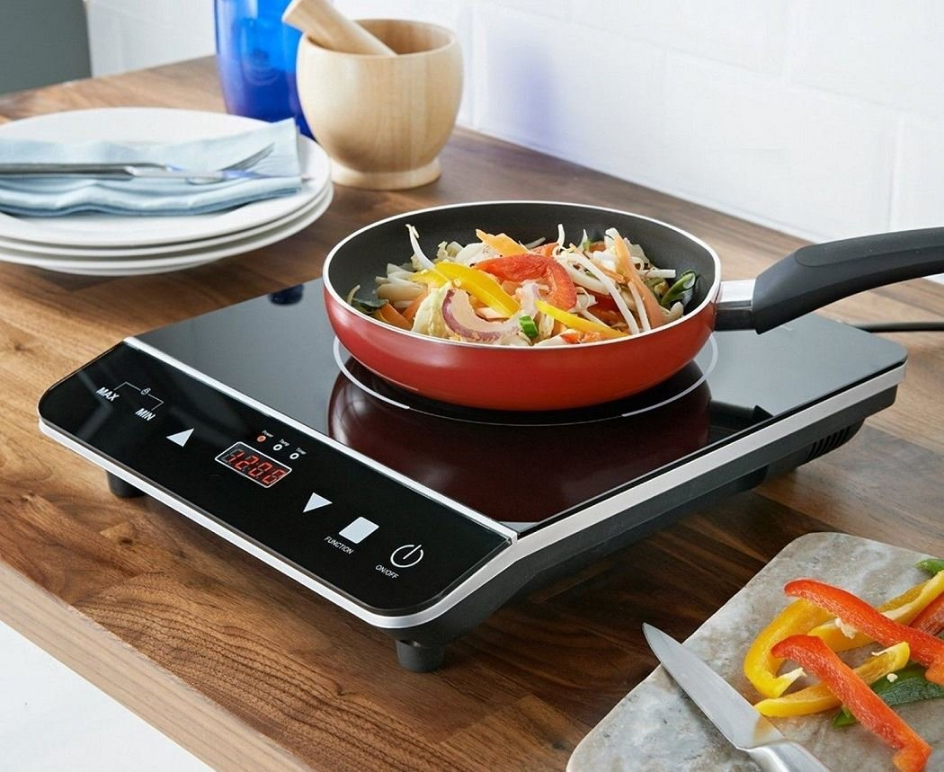 NEW DIGITAL ELECTRIC SINGLE 2000W INDUCTION HOB HEATING LED DISPLAY POWERFUL a2zdicounts