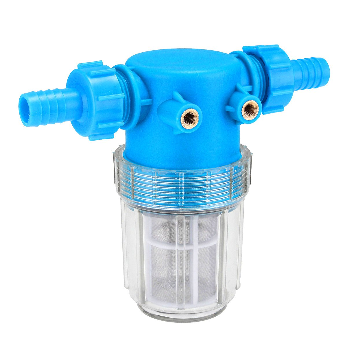 HITSAN 3/4 Inch 20mm Pressure Washer Universal Water Filter In Line Hose Inlet Quick Connector One Piece