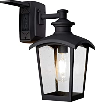 Home Luminaire 31703 Spence 1-Light Outdoor Wall Lantern with Seeded Glass NEW