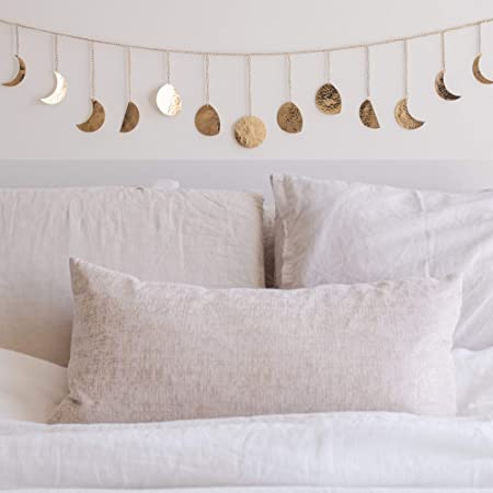 Amazon Com Moon Decor Wall Decorations Handmade Hammered Detailing Boho Accents Wall Decor Moon Phases Wall Art Moon Phases Wall Hanging Bohemian Decor For Bedroom Home Living Room Apartment Everything Else