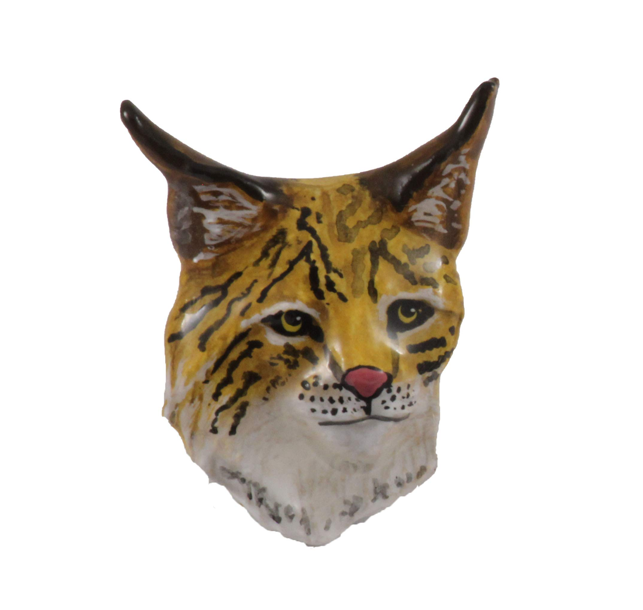 Creative Pewter Designs Lynx Head Mammal Hand Painted Lapel Pin, Brooch, Jewelry, MP050