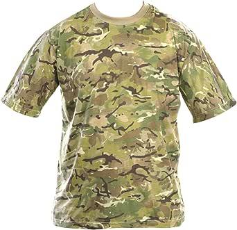 KOMBAT Adult Camo T-Shirt (British Terrain Pattern, 2X-Large)