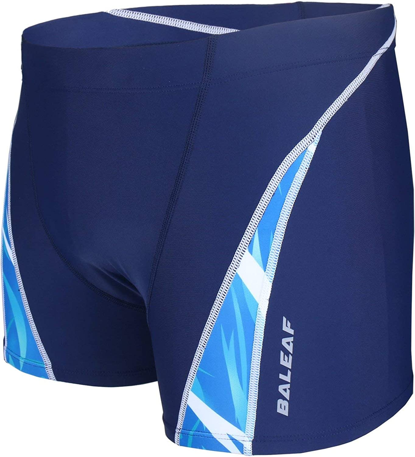 BALEAF Mens Athletic Swim Jammers Quick Dry Compression Square Leg Swim Brief Swimsuit