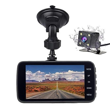 4 Dual Lens Camera Full HD 170° 1080P Car DVR Video Dash Cam Recorder G-Sensor